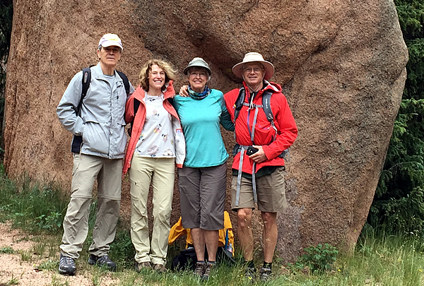 John-Jean Hitchins, Tom-Melanie-Michaels-Crag's Trail, Pike's Peak, July 15, 2017