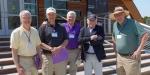 Bill Wadt, Bob Bearman, Ted May, Lou Buck, and Ted May-Mystic, May, 2018