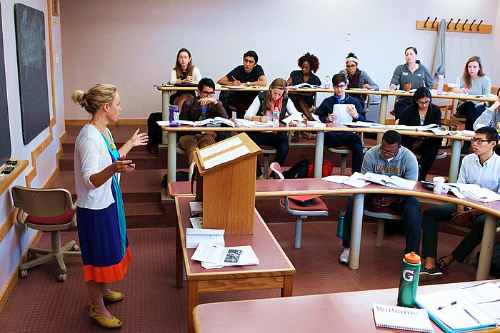 Nicole Mellow teaching class