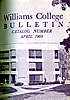 Picture of front page of Williams College Bulletin, showing Greaylock Quad