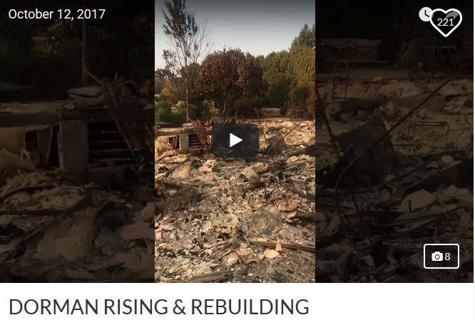 Video Capture - Tim Dorman House after Santa Rosa Fire - Dormans Rising & Rebuilding