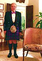 Gates Hawn - Scotch tartan with purple tie
