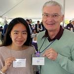 Angela Yu,Williams Class of '20, Bill Wadt, Williams Class of '70;
