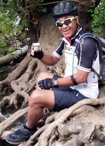 Rod McLeod, Espresso Break while biking in the Upper Galillee, Israel 2018