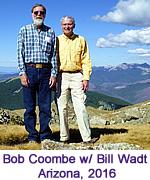 Bob Coombe with Bill Wadt, Arizona, 2016