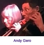 Andy Gero playing the cello