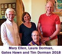 Mary Ellen, Laura Dorman, Gates Hawn, Tim Dorman, 2018