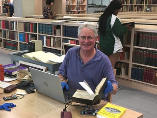 Ray Kimball, '70, Williams Library Archives, June 2017